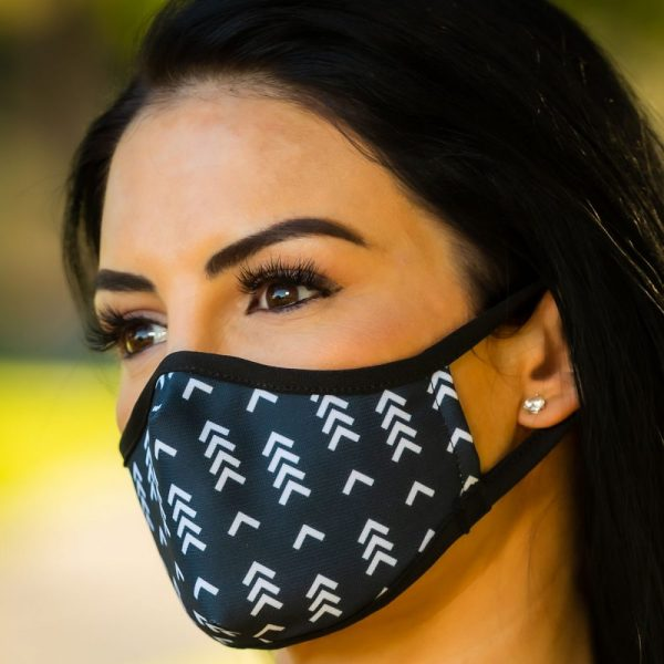 Made in Nevada Black and White Chevron Face Mask