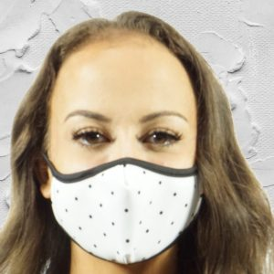 Made in Nevada Black Dots Face Mask