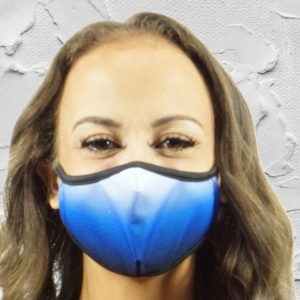 Made in Nevada Fade to Blue Face Mask