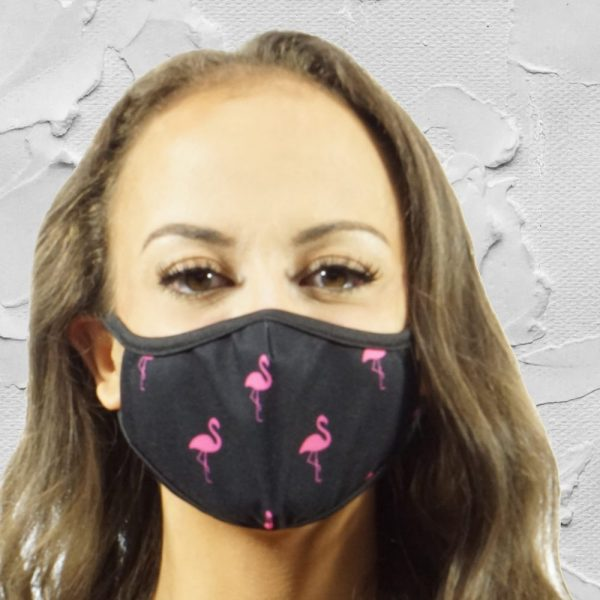 Made in Nevada Flamingos Face Mask