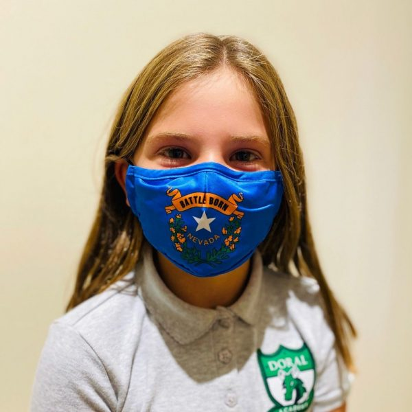 Made in Nevada Battle Born Kids/Youth Mask – Blue