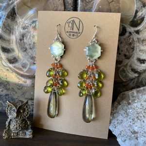 Autumn Inspired Gemstone Earrings on Shop Made in Nevada