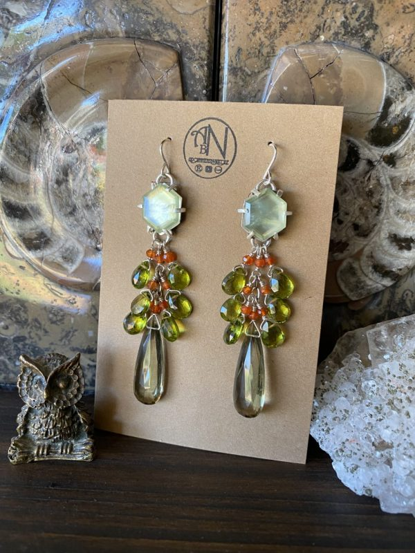 Made in Nevada Autumn Inspired Gemstone Earrings