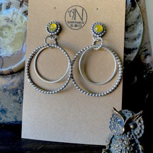 Yellow Chalcedony Earrings on Shop Made in Nevada