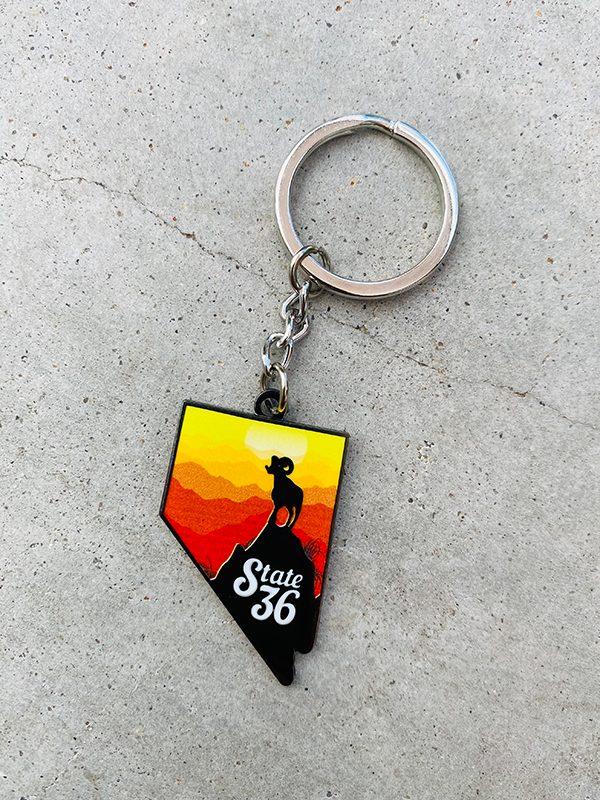 Made in Nevada Bighorn Keychain