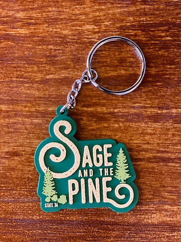 Made in Nevada Sage & Pine Keychain