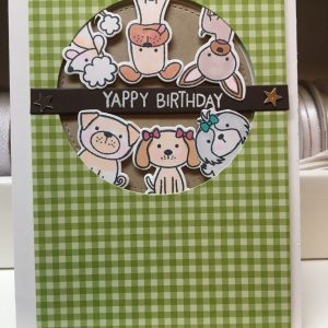 Yappy Birthday Dog Themed Birthday Card on Shop Made in Nevada