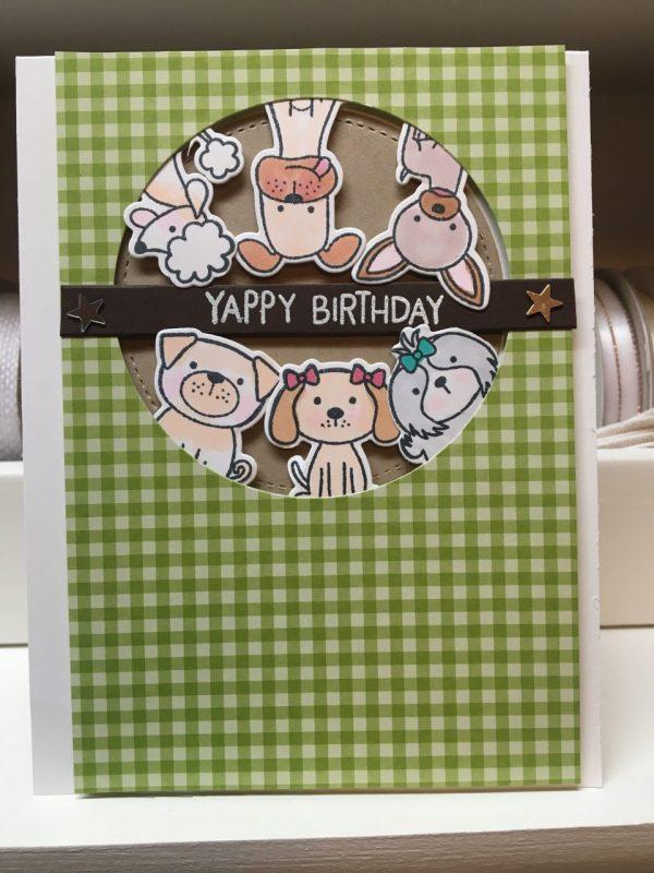 Yappy Birthday Dog Themed Birthday Card on Shop Made in Nevada