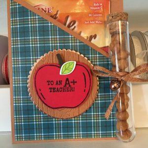 A+ Teacher - Hot Apple Cider Card Pocket