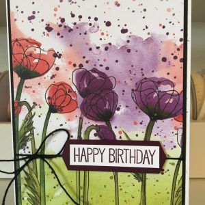 Made in Nevada Poppies – Birthday Card
