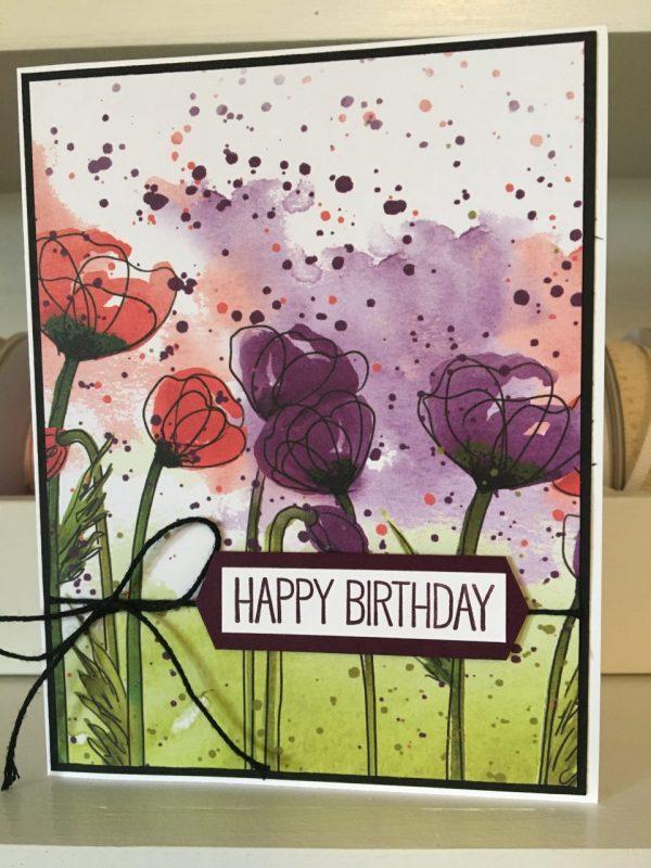 Poppies - Birthday Card