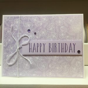 Made in Nevada Purple Floral Birthday Card
