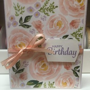 Made in Nevada Pink Floral Birthday Card