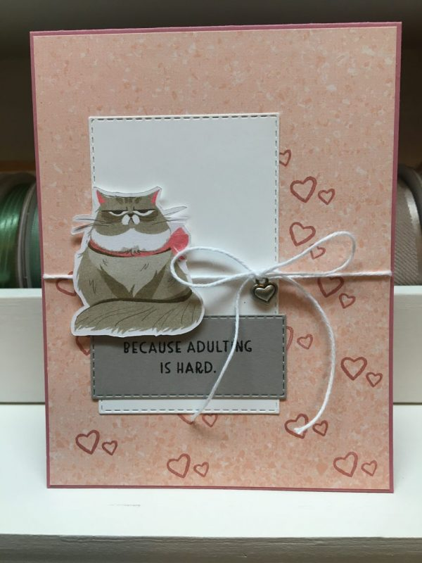 Because Adulting is Hard...Fat Cat - Encouragement/Friendship Card on Shop Made in Nevada