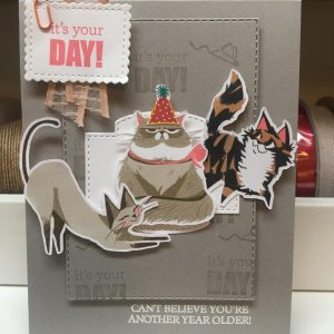 Made in Nevada It's Your Day Birthday Card with Cats