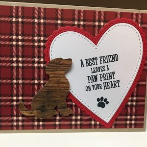 A Best Friend Leaves a Paw Print on your Heart - Pet Sympathy Card on Shop Made in Nevada