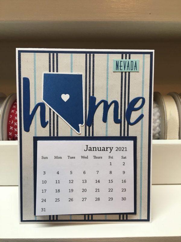 Nevada 2021 Calendar Card, Shop Made in Nevada