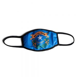 Made in Nevada Battle Born Face Mask Adult – Blue