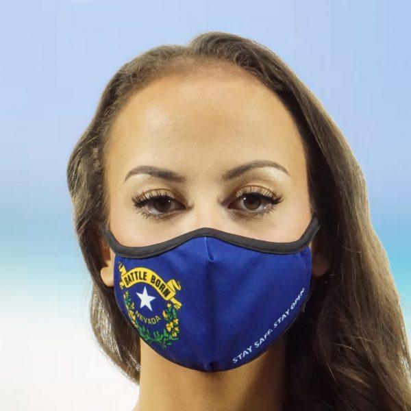 Made in Nevada Nevada Flag – Battle Born Nevada Face Mask