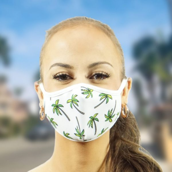 Made in Nevada Palms on White Face Mask
