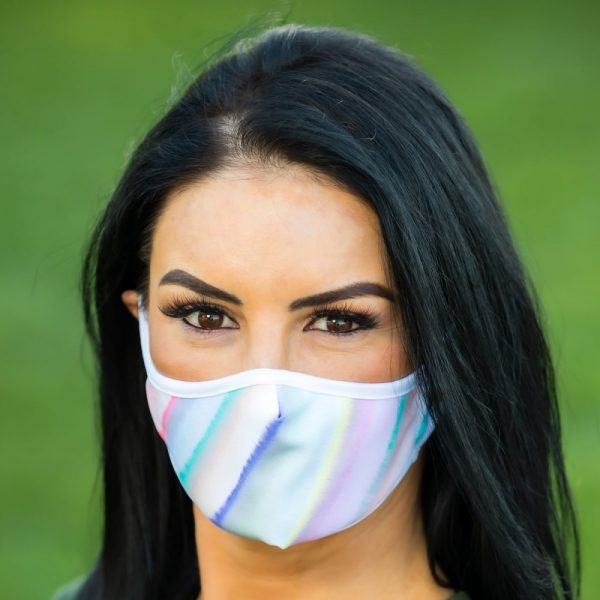 Made in Nevada Pastel Stripe Face Mask