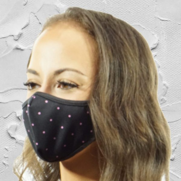 Made in Nevada Pink Dots Face Mask