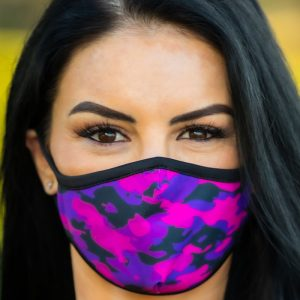 Made in Nevada Purple Camo Face Mask
