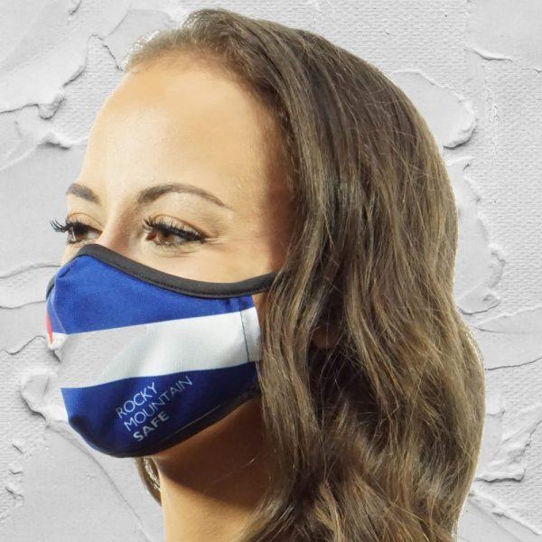 Made in Nevada Colorado Flag – Rocky Mountain Safe – Face Mask
