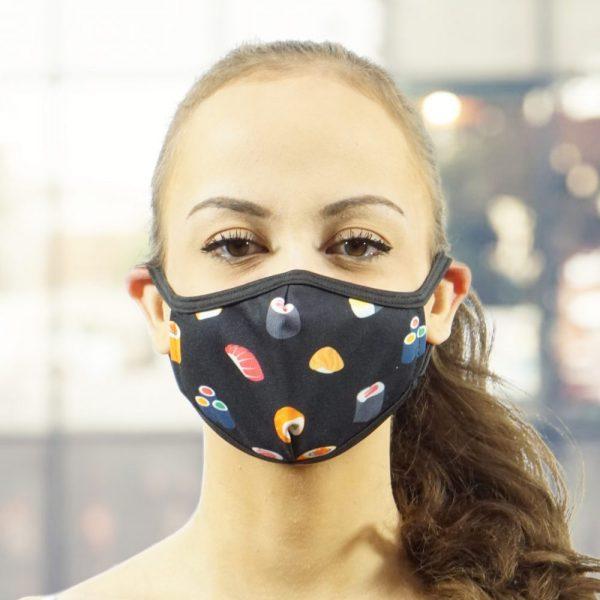 Made in Nevada Sushi Face Mask