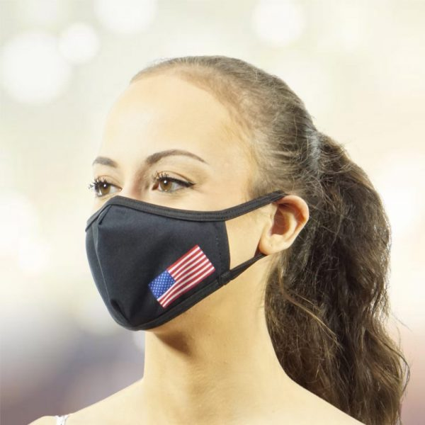 Made in Nevada USA Pride on Black Face Mask