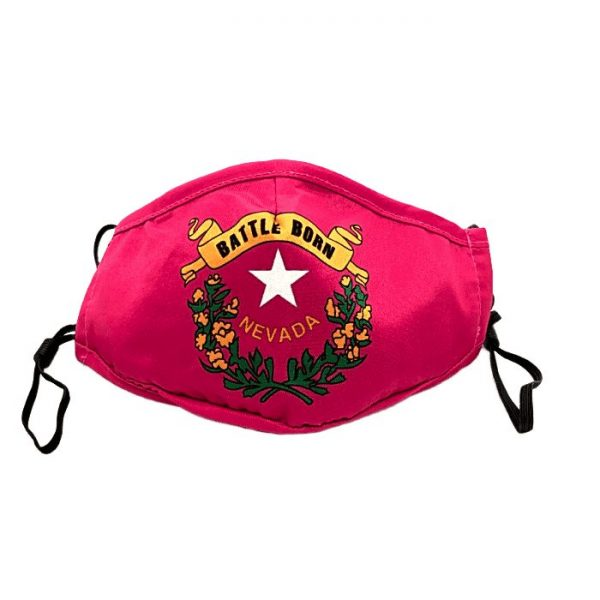 Made in Nevada Battle Born Kids/Youth Mask – Red