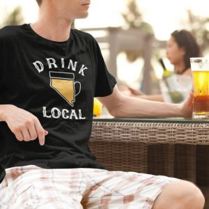Made in Nevada Drink Local Black T-shirt