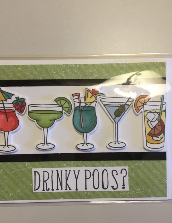 Drinky Poos? - Celebration Card on Shop Made in Nevada