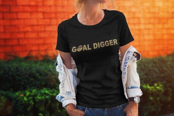 Made in Nevada Goal Digger Ladies T-Shirt