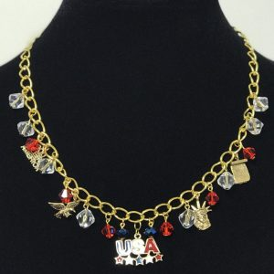Made in Nevada Gold Patriot Charm Necklace, by Soul & Spirit Jewelry