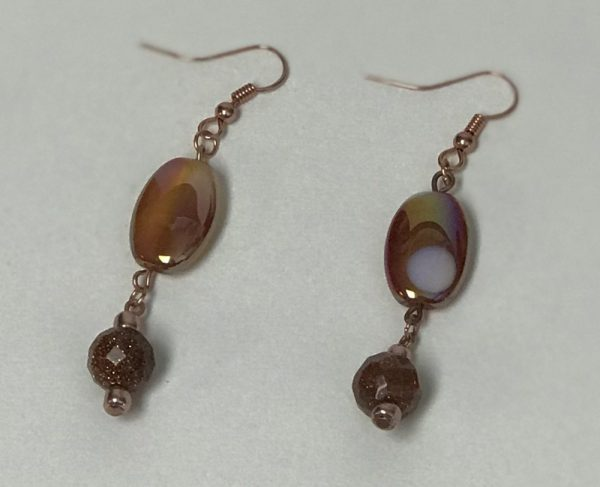 Made in Nevada Sunstone and Amber Earrings by Soul & Spirit Jewelry