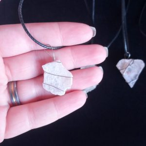 Made in Nevada Small Raw Selenite Pendant
