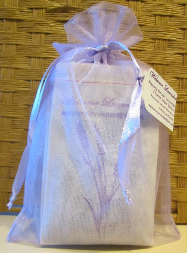 Lavender dryer sachet on Shop Made in Nevada
