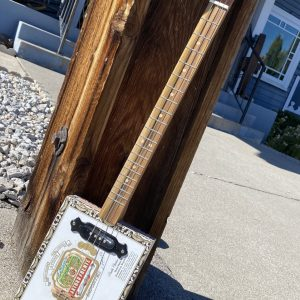 Made in Nevada Cigar box Slide Guitar White