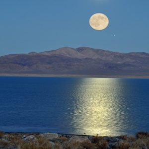 "Made in Nevada ""Equinox Moon, Walker Lake, NV"" – Color Photographic Print"