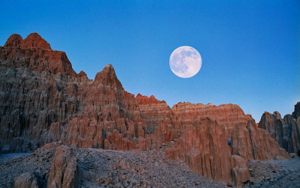 "Made in Nevada ""Full Moon at Cathedral Gorge, Nevada"" – Color Photographic Print"