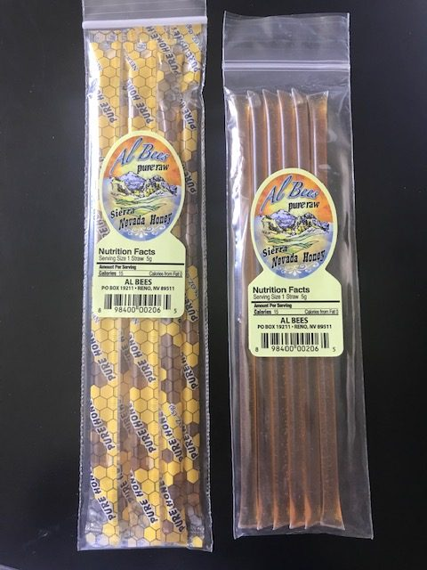 Made in Nevada Honey Straws