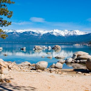 """Made in Nevada """"Reflections at Sand Harbor, Lake Tahoe, NV"""" – Color Photographic Print"""