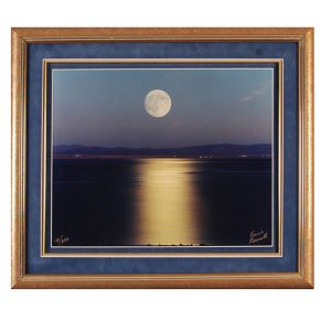 Made in Nevada August Moon, Walker Lake, NV – Limited Edition framed print