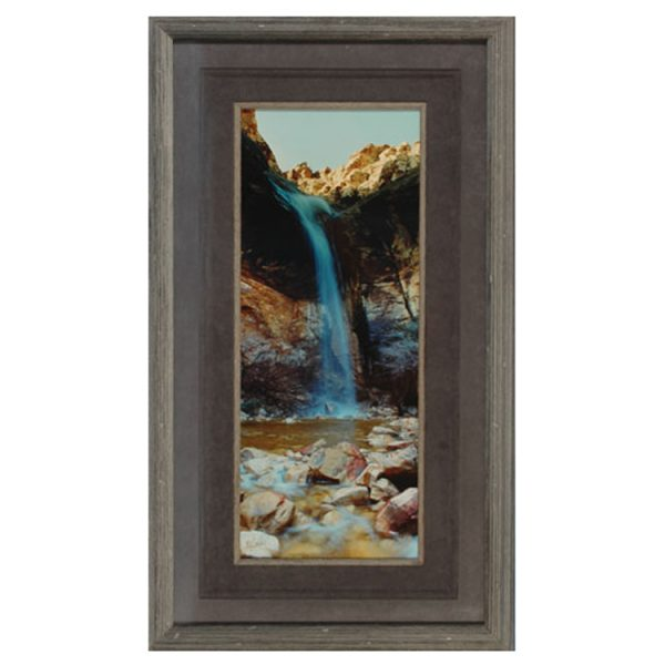 Made in Nevada Waterfall at Lost Creek, Red Rock, NV – Framed print