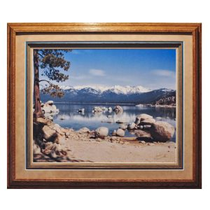 Made in Nevada Reflections at Sand Harbor, Lake Tahoe, NV – Framed print