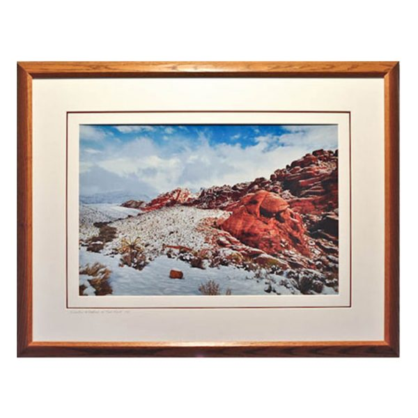 Made in Nevada Winter Wonders at Red Rock, NV – Framed print