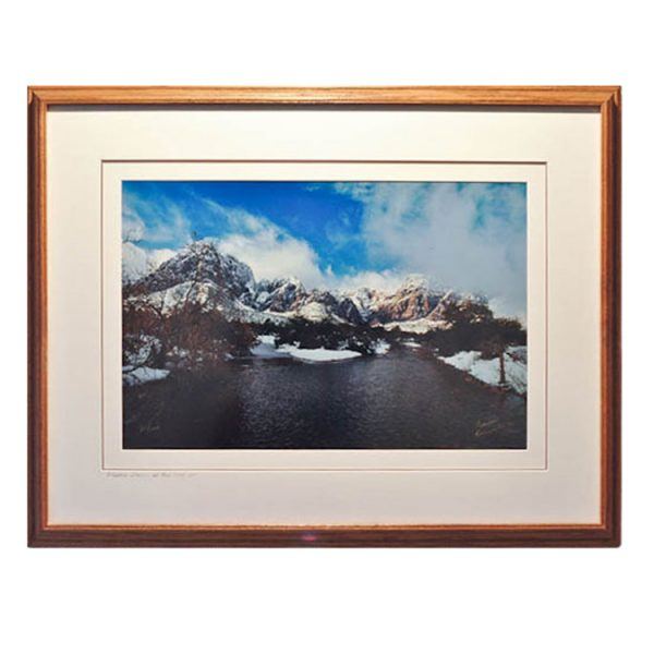 Made in Nevada Winter Storm, Red Rock, NV – Framed print