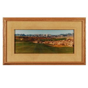 Made in Nevada Badlands Golf Club 18th Hole – Framed print