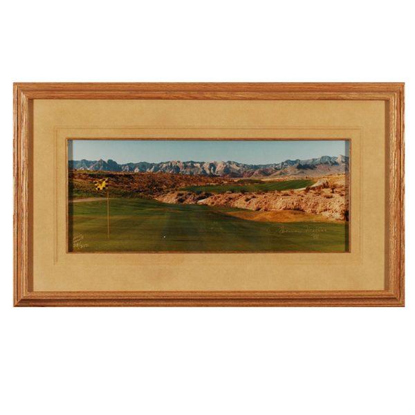 Made in Nevada Badlands Golf Club 18th Hole – Framed print